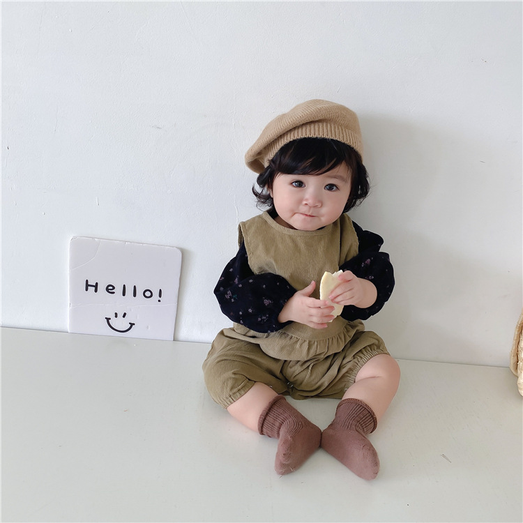 m18859 上下セット Tシャツ ロンパース 女の子 男の子 韓国子供服 キッズ 保温 SALE