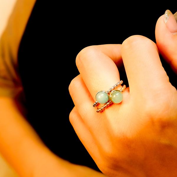 ボヘミアンリゾート リング イヤカフ 2Way 指輪 ステンレス 金属アレルギー対応 サージカル インスタ