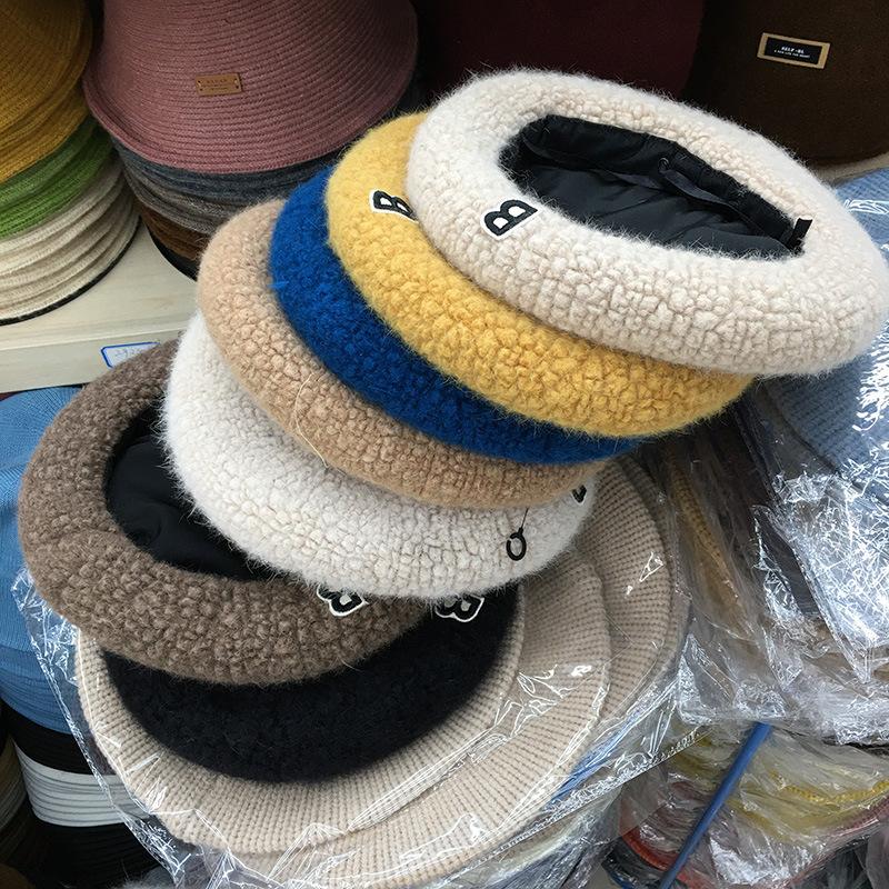 帽子 キャップ ベレー帽 レディース 秋 もこもこ B字 かわいい トレンド おしゃれ