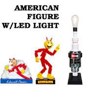 【光る】 American Figure W/LED LIGHT アメリカンフィギュア ライト付 レディキロ 他