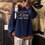ユニセックス セーターレトロ秋冬カジュアル 大きいサイズ メンズ