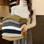 ハイネック セーターボトムスシャツ 女 秋冬 新しいデザイン 着やせ 着やせ 長袖長袖