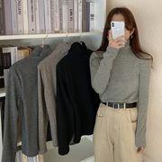 ハイカラーシャツ 女 秋冬 西洋風 新しいデザイン バースト スタイル ブラック 長袖長