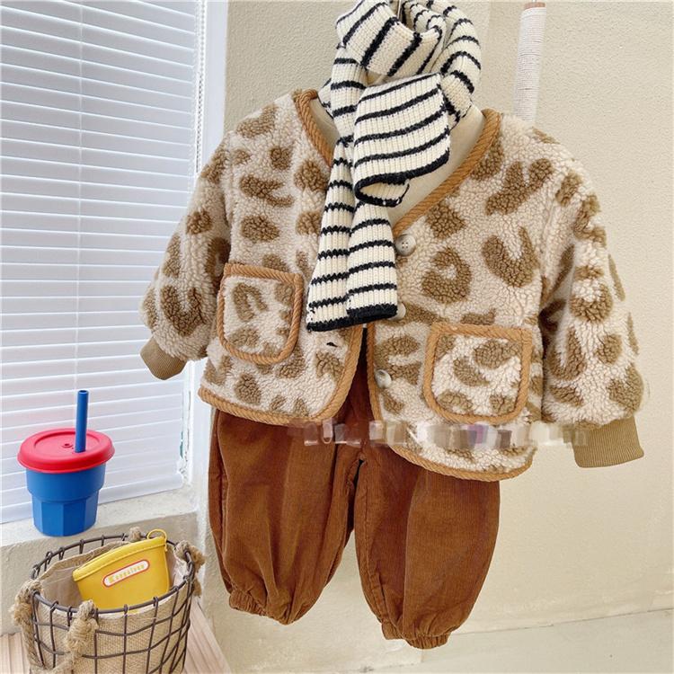 レビュー続々 韓国ファッション ヒョウ柄 暖かい 厚手 大人気 子羊の毛 ギャザリング 可愛い コート
